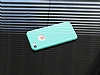 Dafoni Thin Air iPhone 7 Kamera Korumalı Yeşil Rubber Kılıf - Resim 1