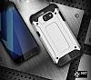 Dafoni Tough Power Asus ZenFone 3 Max ZC553KL Ultra Koruma Silver Kılıf - Resim 3