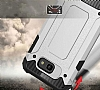 Dafoni Tough Power Asus ZenFone 3 Max ZC553KL Ultra Koruma Silver Kılıf - Resim 1
