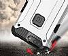 Tough Power Asus ZenFone 4 ZE554KL Ultra Koruma Silver Kılıf - Resim 3