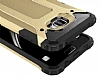 Dafoni Tough Power Huawei Y7 Prime Ultra Koruma Gold Kılıf - Resim 1