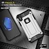 Dafoni Tough Power iPhone X Ultra Koruma Mavi Kılıf - Resim 7