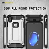 Dafoni Tough Power iPhone X Ultra Koruma Mavi Kılıf - Resim 2