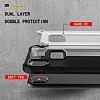 Dafoni Tough Power iPhone X Ultra Koruma Mavi Kılıf - Resim 5