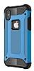 Dafoni Tough Power iPhone X Ultra Koruma Mavi Kılıf - Resim 11