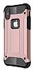 Dafoni Tough Power iPhone X Ultra Koruma Rose Gold Kılıf - Resim 10