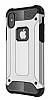 Dafoni Tough Power iPhone X Ultra Koruma Silver Kılıf - Resim 11
