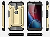 Tough Power Motorola Moto G4 Plus Ultra Koruma Kırmızı Kılıf - Resim 2