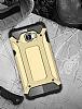 Dafoni Tough Power Samsung Galaxy C5 Pro Ultra Koruma Gold Kılıf - Resim 2