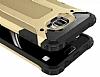 Dafoni Tough Power Samsung Galaxy C5 Pro Ultra Koruma Gold Kılıf - Resim 1