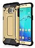 Dafoni Tough Power Samsung Galaxy S6 Edge Ultra Koruma Gold Kılıf