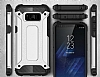 Dafoni Tough Power Samsung Galaxy S8 Ultra Koruma Silver Kılıf - Resim 6