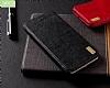 XO iPhone X Cüzdanlı İnce Yan Kapaklı Siyah Deri Kılıf - Resim 1