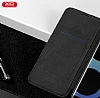 DCO Samsung Galaxy Note 8 Cüzdanlı İnce Yan Kapaklı Siyah Deri Kılıf - Resim 1