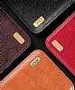 XO Samsung Galaxy Note 8 Cüzdanlı İnce Yan Kapaklı Kahverengi Deri Kılıf - Resim 1