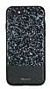 DZGOGO iPhone 7 / 8 Işıltılı Siyah Deri Kılıf - Resim 15