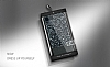 DZGOGO iPhone 7 / 8 Işıltılı Siyah Deri Kılıf - Resim 11