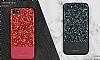 DZGOGO iPhone 7 / 8 Işıltılı Siyah Deri Kılıf - Resim 9