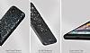 DZGOGO iPhone 7 / 8 Işıltılı Siyah Deri Kılıf - Resim 8