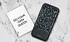 DZGOGO iPhone 7 / 8 Işıltılı Siyah Deri Kılıf - Resim 12