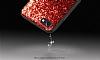 DZGOGO iPhone 7 / 8 Işıltılı Siyah Deri Kılıf - Resim 7