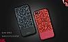 DZGOGO iPhone 7 / 8 Işıltılı Siyah Deri Kılıf - Resim 10