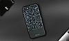 DZGOGO iPhone 7 / 8 Işıltılı Siyah Deri Kılıf - Resim 13