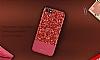 DZGOGO iPhone 7 / 8 Işıltılı Kırmızı Deri Kılıf - Resim 12