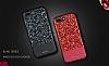 DZGOGO iPhone 7 Plus / 8 Plus Işıltılı Kırmızı Deri Kılıf - Resim 1
