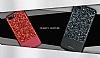 DZGOGO iPhone 7 Plus / 8 Plus Işıltılı Kırmızı Deri Kılıf - Resim 11