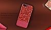 DZGOGO iPhone 7 Plus / 8 Plus Işıltılı Kırmızı Deri Kılıf - Resim 7