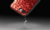 DZGOGO iPhone 7 Plus / 8 Plus Işıltılı Kırmızı Deri Kılıf - Resim 8