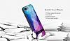 DZGOGO iPhone 7 Plus / 8 Plus Silikon Kenarlı Mavi Rubber Kılıf - Resim 7