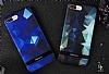 DZGOGO iPhone 7 Plus / 8 Plus Silikon Kenarlı Mavi Rubber Kılıf - Resim 2