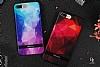 DZGOGO iPhone 7 Silikon Kenarlı Kırmızı Rubber Kılıf - Resim 4