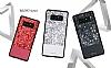 DZGOGO Samsung Galaxy Note 8 Işıltılı Siyah Deri Kılıf - Resim 13