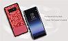 DZGOGO Samsung Galaxy Note 8 Işıltılı Siyah Deri Kılıf - Resim 12
