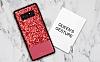 DZGOGO Samsung Galaxy Note 8 Işıltılı Kırmızı Deri Kılıf - Resim 2