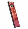 DZGOGO Samsung Galaxy Note 8 Işıltılı Kırmızı Deri Kılıf - Resim 3