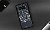 DZGOGO Samsung Galaxy Note 8 Işıltılı Siyah Deri Kılıf - Resim 1