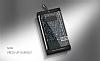 DZGOGO Samsung Galaxy S8 Işıltılı Siyah Deri Kılıf - Resim 1