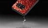 DZGOGO Samsung Galaxy S8 Işıltılı Kırmızı Deri Kılıf - Resim 3