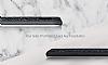 DZGOGO Samsung Galaxy S8 Işıltılı Siyah Deri Kılıf - Resim 4