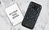 DZGOGO Samsung Galaxy S8 Işıltılı Siyah Deri Kılıf - Resim 12