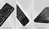 DZGOGO Samsung Galaxy S8 Işıltılı Siyah Deri Kılıf - Resim 2