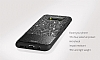 DZGOGO Samsung Galaxy S8 Işıltılı Siyah Deri Kılıf - Resim 6