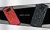 DZGOGO Samsung Galaxy S8 Işıltılı Kırmızı Deri Kılıf - Resim 14