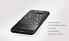 DZGOGO Samsung Galaxy S8 Plus Işıltılı Siyah Deri Kılıf - Resim 5