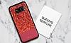 DZGOGO Samsung Galaxy S8 Plus Işıltılı Kırmızı Deri Kılıf - Resim 12