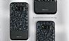 DZGOGO Samsung Galaxy S8 Plus Işıltılı Siyah Deri Kılıf - Resim 3